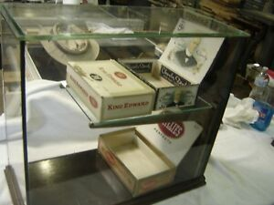 Antique Cigar Counter Store Display Case Spring Loaded Door In The Back 473