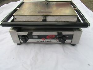 Nuova Simonelli Panini Grill With Flat Plates P1l Tested Works Great