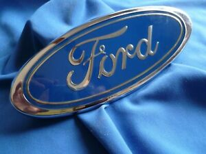 1982 83 84 Large Ford Truck Blue Oval Emblem Grill New But Flawed