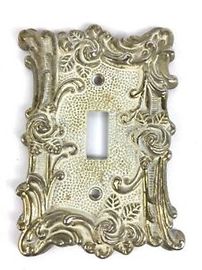 Brass American Tack Howe Co Light Switch Plate Cover Floral Rose 1967 60t