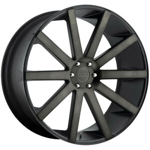 24 Inch Dub S121 Shot Calla 24x10 6x135 30mm Black Wheel Rim