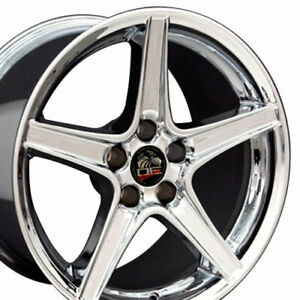 18x9 Rims Fit Mustang Saleen Style Chrome Wheels Set