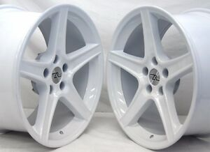 18 White 94 04 Mustang Saleen Style Wheels Staggered 18x9 18x10 5x114 3 5x4 5