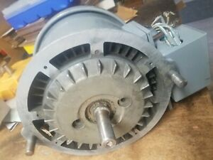 Bridgeport 1 Hp J head Spindle Drive Motor 2 long Shaft For Step Pulley Machine