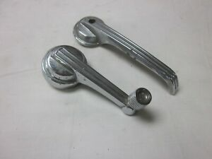 Vintage Lot Of Chrome 1965 66 Ford Mustang Parts Door Window Handles Interior