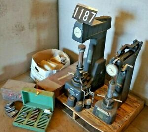 Wilson Rockwell Hardness Testers 4jr 3r Alot Of Extras See Pictures