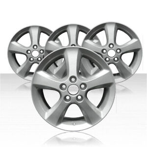 Revolve 17x7 Silver Wheel For 2004 2009 Toyota Camry set Of 4