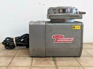Dayton Speedaire 2z866 4 2amp Air Compressor vacuum Pump