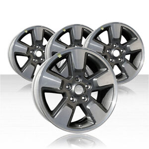 Revolve 16x7 Machined And Charcoal Wheel For 2008 2012 Jeep Liberty set Of 4