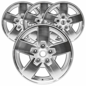 17 Machined Silver Rim By Jte For 2006 2008 Jeep Commander 17x7 5 Set Of 4