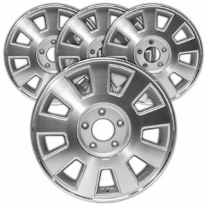 16 Mach d W silver Vents Rim By Jte For 03 05 Mercury Grand Marquis set Of 4