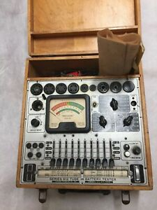Vintage Precision Apparatus Model 612 Tube And Battery Tester Checker