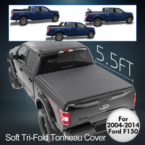Fits 2009 2014 Ford F 150 New 5 5ft Soft Bed Tri Fold Tonneau Cover