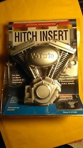 V Twin H D Motorcycle Style Trailer Hitch Insert Cover Chevy Ford Dodge 4x4 S