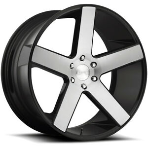 4 Dub S217 Baller 22x9 5 6x5 5 31mm Black Machined Wheels Rims 22 Inch