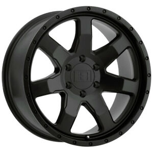 4 Level 8 Slam 17x8 5 6x127 6x5 12mm Matte Black Wheels Rims