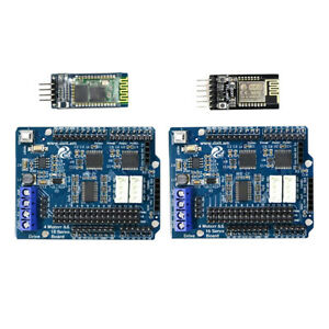 2x Arduino Motor Drive Board Control Kit Wifi Bluetooth Module For Robot