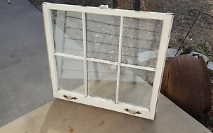 Architectural Salvage 6 Pane Old Window Sash Frame Pinterest With Hardware