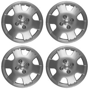14 Push on Silver Wheel Cover Hubcaps For 2000 2005 Toyota Echo