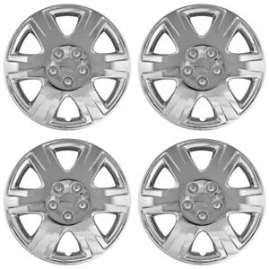 15 Push on Chrome Wheel Cover Hubcaps For 2005 2008 Toyota Corolla