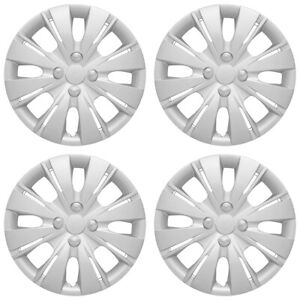 15 8 Split Spoke Silver Wheel Cover Hubcaps For 2012 2015 Toyota Yaris