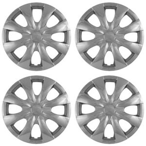 15 Push on Chrome Wheel Cover Hubcaps For 2009 2013 Toyota Corolla Base le