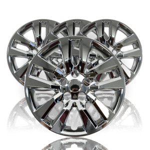 Chrome Wheel Covers Snap On Full Rim Hub Caps For 2013 2018 Nissan Altima 16