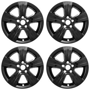4 Gloss Black 17 Wheel Skins Hub Caps Alloy Rim Covers For 2011 17 Patriot Comp