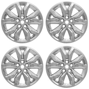 4 Chrome 18 Wheel Skins Full Rim Covers Hub Caps For 2016 2018 Chevrolet Impala
