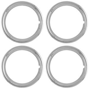 4 New 14 Chrome Steel Wheel Trim Rings Beauty Rims Glamour Ring Rim Edge Bands