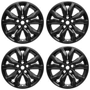 4 Black 18 Wheel Skins Full Rim Covers Hub Caps For 2016 2018 Chevrolet Impala