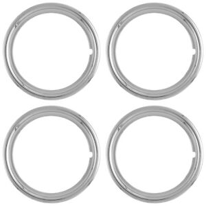 Set Of 4 17 Chrome Wheel Trim Rings Beauty Rims Ring Glamour Band Fit Steel Rim
