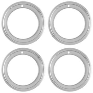 4 New 14 14x7 Rally Steel Wheel Trim Rings 2 5 Deep Beauty Glamour Rim Bands