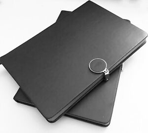 Idny Black Leather Journal Leather Writing Notebook Hardcover W Magnetic Clasp