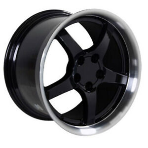 Black Wheel 18x10 5 W Machined Lip For 1993 2002 Chevy Camaro Owh0278