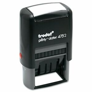 Trodat Trodat Economy Stamp Dater Self inking 1 5 8 X 1 Blue red