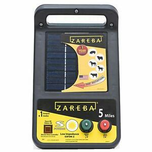Zareba Esp5m z 5 mile Solar Low Impedance Electric Fence Charger Energizer