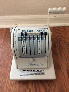 Vintage Paymaster Series S 1000 Check Writer Embosser Stamper Machine