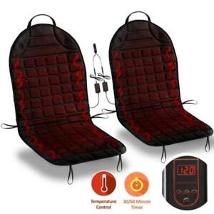 Car Heated Pad Hot Warmer 2pack 12v Seat Cover Cushion Cover Cold Weather