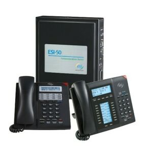 Esi 50 Office Telephone System W Communication Server 23 Handsets Gently Used