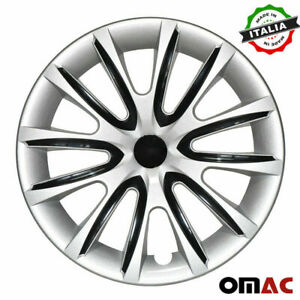 14 Inch Hubcaps Wheel Rim Cover Gray With Black Insert 4pcs Set