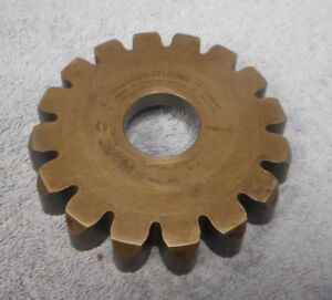 Gear Shaper Cutter Fellows 3 4 Circular Pitch Sprocket