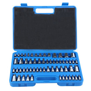 Master Torx Socket Set 60pcs Tamper Proof Security Bits Plus External Star New