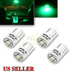 New 4 Pc 168 194 2821 W5w T10 Led Light Bulbs Replacment 5x 1210 Smd Chips Green