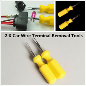 2x Car Terminal Removal Tool Wire Connector Pin Release Puller For Vw For Audi T