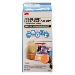 3m Car Restoration Headlight Lens System Kit Fog Light Turn Light Polish