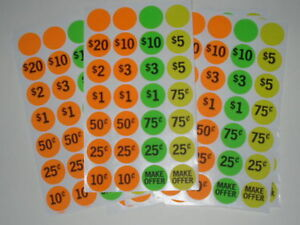 Garage Yard Sale Rummage Sticker Price Sell 4228 Labels See My Other Items Too