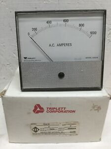 Triplett Corporation 430 g Panel Meter 0 1000 Ac Amperes Electro lab Services
