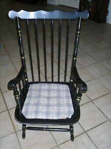 Vintage Antique Ethan Allen Style Spindle Arm Chair With Short Legs