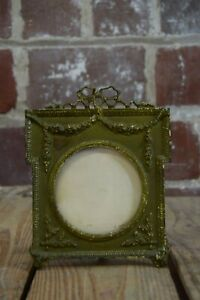 Vintage Brass Gold Toned Picture Frame Bows And Olive Branches